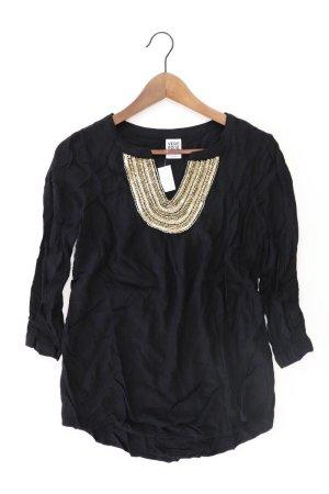 Vero Moda Shirt mit V-Ausschnitt Größe S 3/4 Ärmel mit Pailletten schwarz aus Viskose