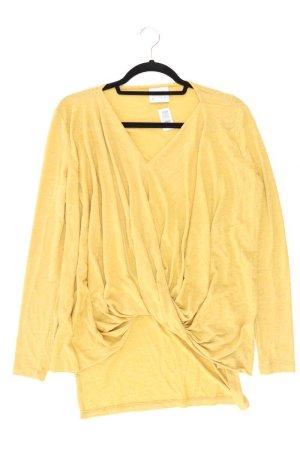 Vero Moda Shirt mit V-Ausschnitt Größe XS Kurzarm gelb aus Polyester