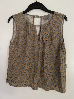 Vero Moda Shirt Oberteil Bluse Top Muster Senfgelb Gr. XS