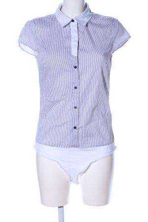 Vero Moda Shirt Body white-light grey striped pattern business style