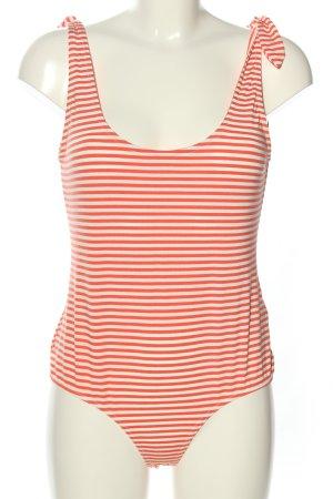 Vero Moda Body czerwony-biały Na całej powierzchni W stylu casual