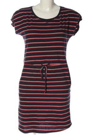 Vero Moda Shirtkleid blau-rot Streifenmuster Casual-Look