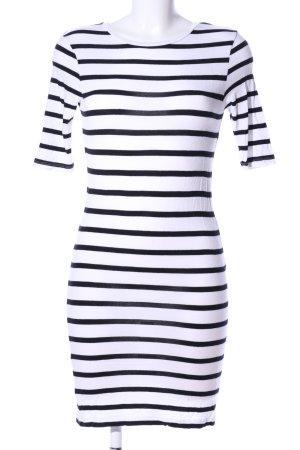 Vero Moda Shirtkleid weiß-schwarz Streifenmuster Casual-Look