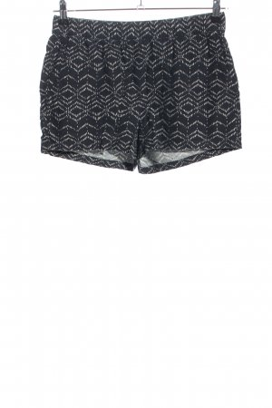 Vero Moda Shorts blau-weiß Allover-Druck Casual-Look