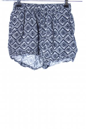 Vero Moda Shorts blu-bianco stampa integrale stile casual