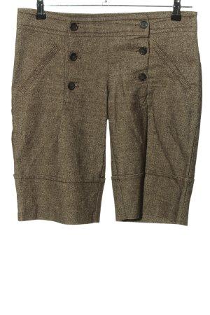 Vero Moda Shorts bianco sporco-marrone motivo a righe stile casual