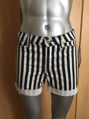 Vero Moda Shorts schwarz weiß gestreift Gr. XS