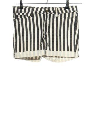 Vero Moda Shorts weiß-schwarz Allover-Druck Casual-Look