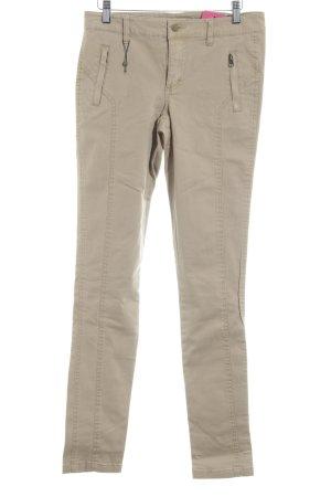 Vero Moda Skinny Jeans beige-camel Logo-Applikation