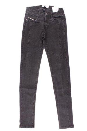 Vero Moda Skinny Jeans Größe 34 mit Nieten grau aus Baumwolle