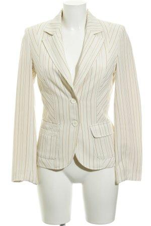 Vero Moda Smoking-Blazer beige-creme Streifenmuster Business-Look