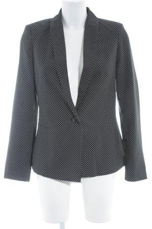 Vero Moda Smoking-Blazer schwarz-weiß Punktemuster Casual-Look