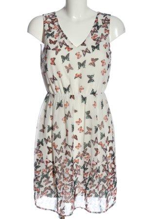 Vero Moda Sommerkleid weiß Motivdruck Elegant