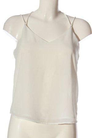 Vero Moda Top z cienkimi ramiączkami biały W stylu casual