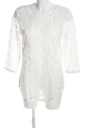 Vero Moda Spitzenbluse weiß Elegant