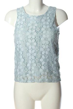 Vero Moda Spitzenbluse blau Blumenmuster Casual-Look