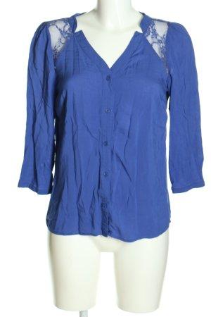 Vero Moda Spitzenbluse blau Casual-Look