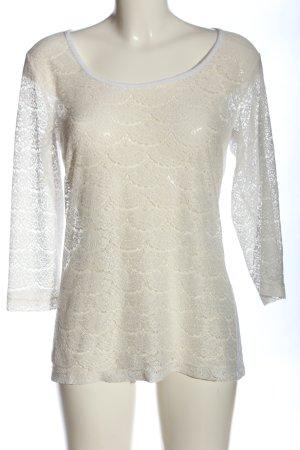 Vero Moda Blusa in merletto bianco sporco stile casual