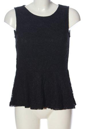 Vero Moda Spitzenbluse schwarz Casual-Look