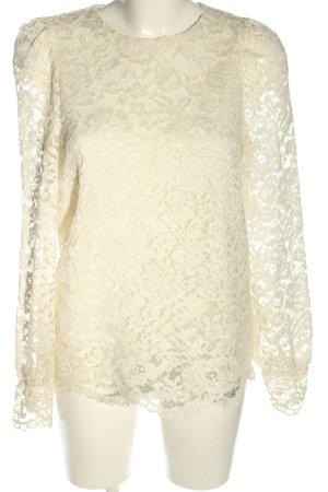 Vero Moda Blusa in merletto bianco sporco motivo floreale elegante