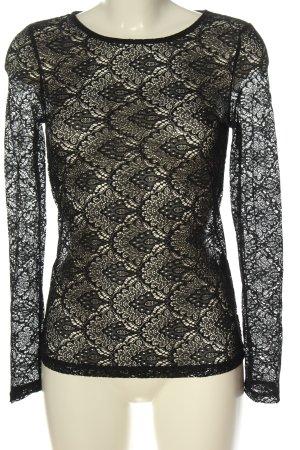 Vero Moda Koronkowa bluzka czarny W stylu casual