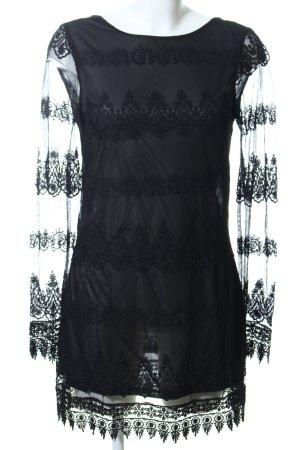 Vero Moda Vestido de encaje negro elegante