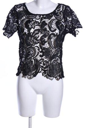 Vero Moda Spitzentop schwarz Elegant