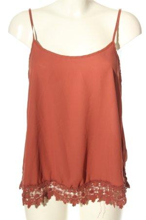 Vero Moda Kanten topje licht Oranje casual uitstraling