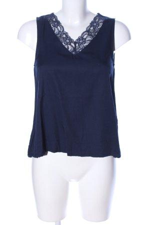 Vero Moda Haut en dentelle bleu motif de fleur style décontracté