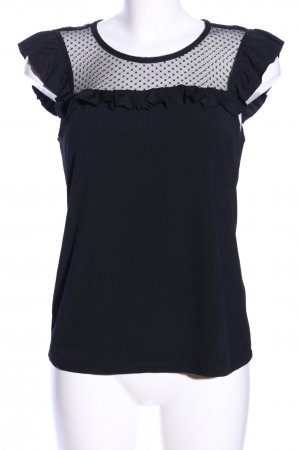 Vero Moda Spitzentop schwarz Business-Look