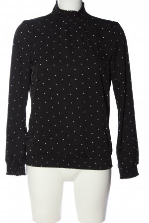 Vero Moda Stand-Up Collar Blouse black-white spot pattern casual look