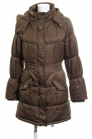 Vero Moda Quilted Coat grey brown quilting pattern casual look