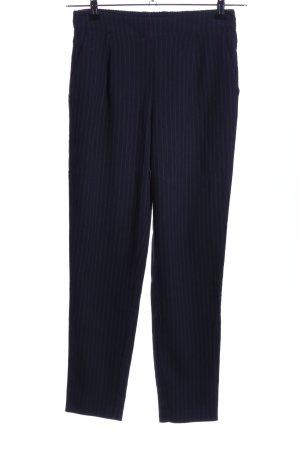 Vero Moda Stoffhose blau Streifenmuster Business-Look