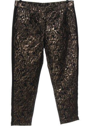 Vero Moda Stoffhose schwarz-bronzefarben Allover-Druck Casual-Look
