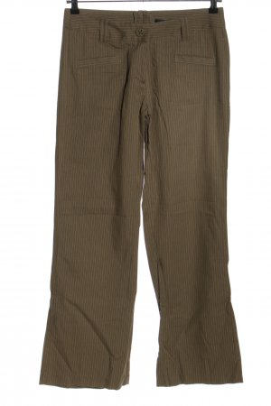 Vero Moda Jersey Pants brown-natural white striped pattern casual look