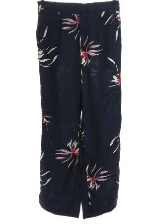 Vero Moda Stoffhose blau-pink Blumenmuster Casual-Look