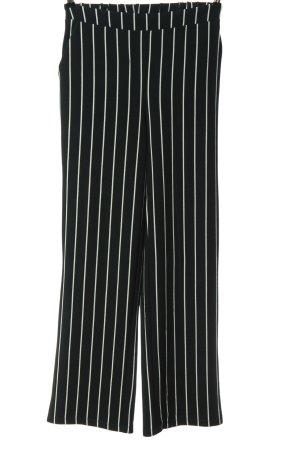 Vero Moda Stoffhose schwarz-weiß Streifenmuster Casual-Look