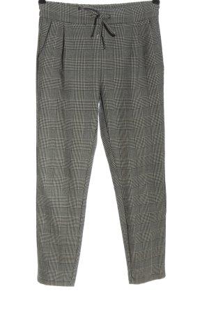 Vero Moda Jersey Pants light grey check pattern business style