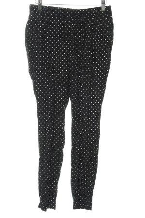 Vero Moda Stoffhose schwarz-wollweiß Punktemuster schlichter Stil