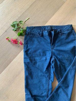 Vero moda stoffjeans in dunkelblau