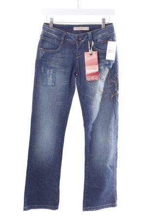 Vero Moda Straight-Leg Jeans blau Casual-Look