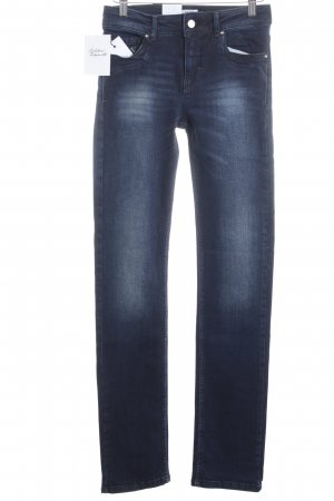 Vero Moda Straight-Leg Jeans blau Washed-Optik