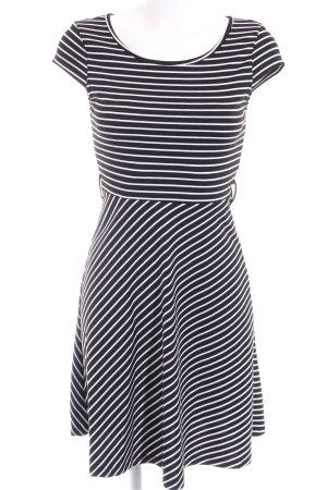 Vero Moda Stretchkleid schwarz-weiß Streifenmuster