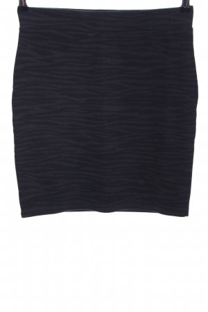 Vero Moda Stretchrock schwarz-hellgrau abstraktes Muster Business-Look