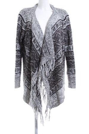 Vero Moda Strick Cardigan schwarz-weiß grafisches Muster Casual-Look