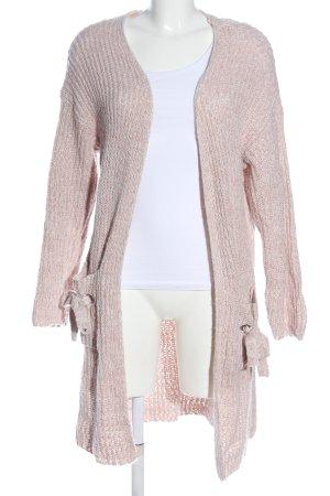Vero Moda Strick Cardigan pink Zopfmuster Casual-Look
