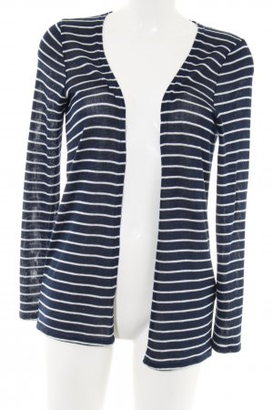 Vero Moda Strick Cardigan blau-wollweiß Streifenmuster Casual-Look