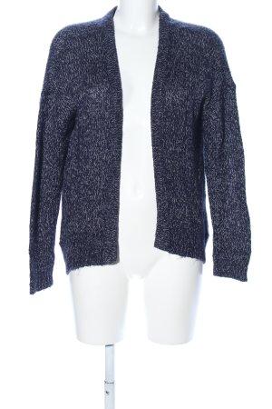 Vero Moda Strick Cardigan blau-weiß meliert Casual-Look