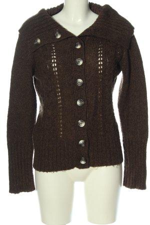 Vero Moda Strick Cardigan bronzefarben Zopfmuster Casual-Look