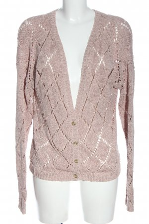 Vero Moda Strick Cardigan pink Karomuster Casual-Look